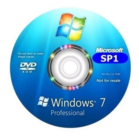 Cd Windows 7 Pro 32bits Ativado Formatação/instalação