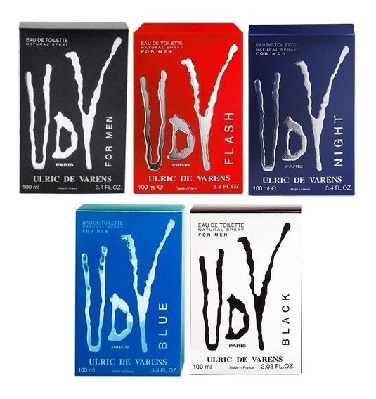 Kit 5 Perfume Udv For Men, Flash , Night, Blue, Black 100ml