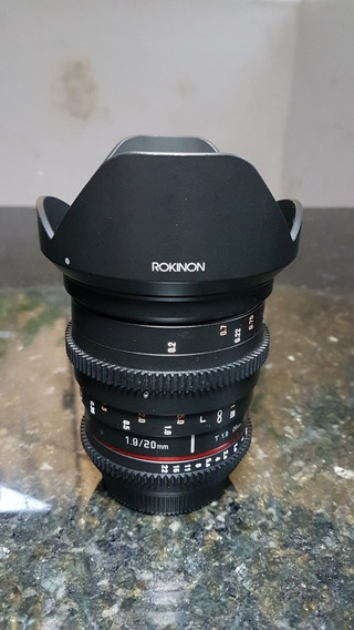 Lente Rokinon Cine 20mm Bocal Canon Ef.
