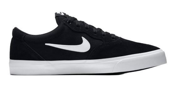 Zapatilla Nike Sb Chron Solar Black / White Hombre Original