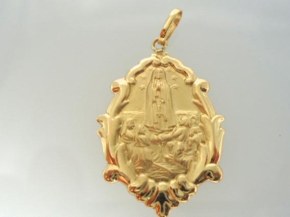 Nossa Senhora De Fatima De Ouro 18k Jr Alianças