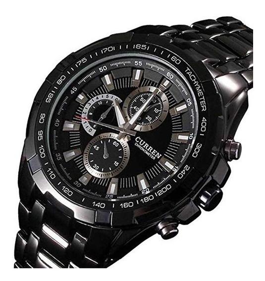 Relógio Militar Curren Masculino M8023 Preto