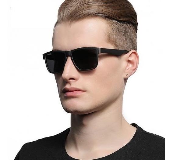 Óculos Escuros Masculino Polarizado Quadrado Com Proteção Uv