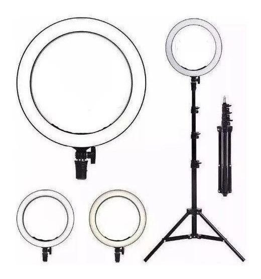 Ring Light 10 Luz Para Live Maquiagem Tripe 2,10m Led Selfie