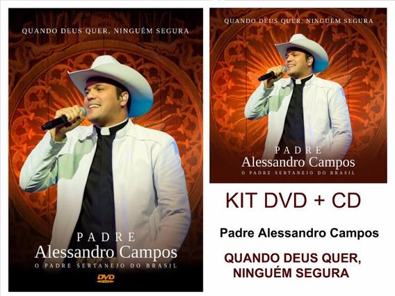 Kit Dvd + Cd Padre Alessandro Campos - Quando Deus (lacrado)