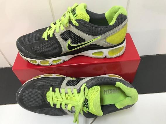 Tênis Nike Flywire Verde Claro/chumbo - Número 38 (eua 8,5)