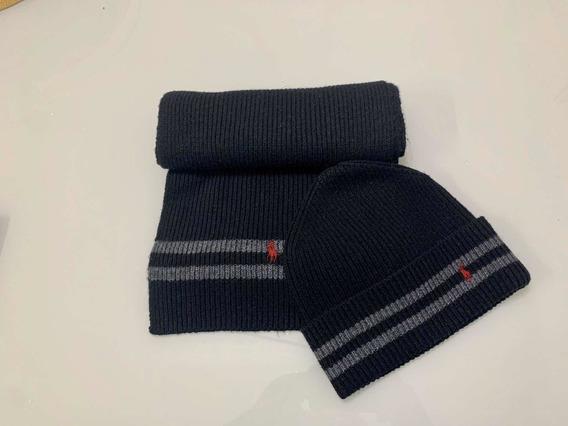 Conjunto Touca E Cachecol De Inverno Polo Ralph Lauren
