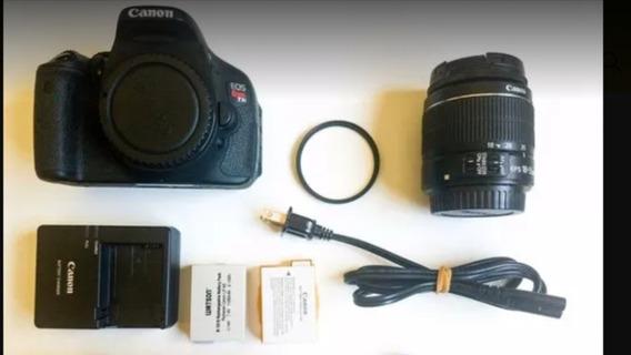 Canon T3i Com Lente 18-55mm Com Filtro Uv E 2 Baterias