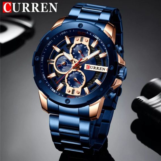 Relógio Masculino Curren Militar De Luxo Modelo 8336 Original + Estojo Curren Frete Grátis