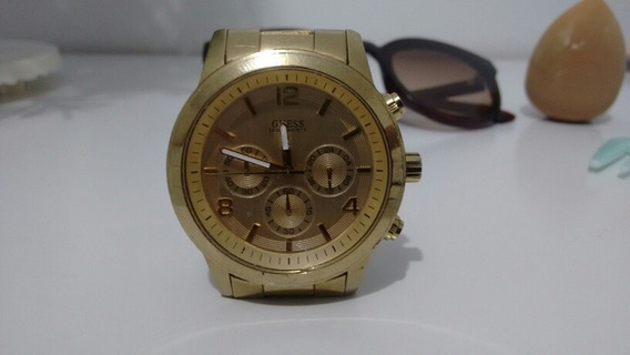 Relógio Guess Dourado Multifuncional