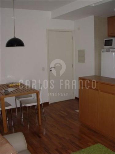 Imagem 1 de 15 de Apartamento No Brooklin,com 47mau,com Um Dormitorio,uma Suite E Uma Vaga - Cf8498