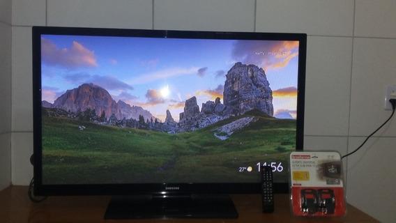 Tv Plasma Samsung 43 Polegadas C/ Suporte De Parede