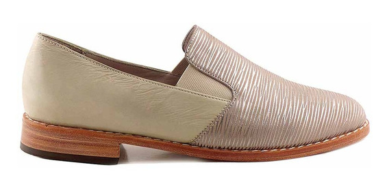 Zapato Mujer Briganti Cuero Casual Taco Bajo - Mccz03473