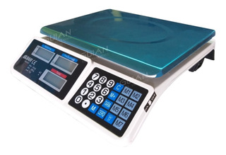Bascula Digital Comercial 40kg Recargable Doble Pantalla