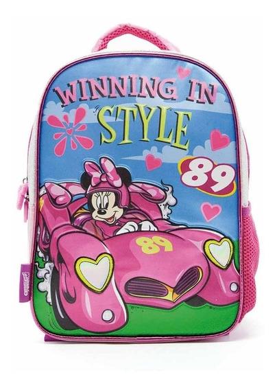 Mochila Espalda Minnie Disney 12p Escolar Jardin Km721