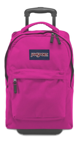 Mochila Jansport Wheeled Superbreak Magenta Original