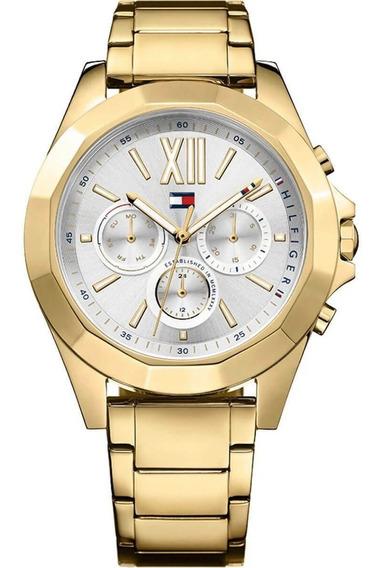 Relógio Tommy Hilfiger Feminino Damenuh Aço Dourado- 1781848
