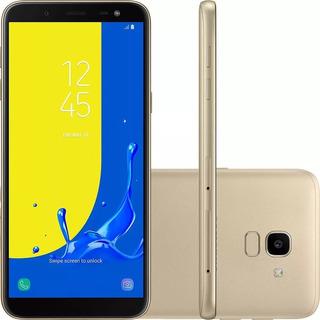 Celular Samsung J6 Galaxy Dourado 16gb + C. Memoria 32 Gb
