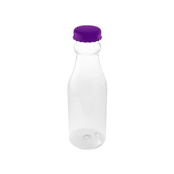 Botella Plástico 700ml Tapa Morada Cilindro Bebida Nueva