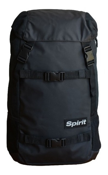 Mochila Spirit Box Negro / Negro (porta Skate/notebook )