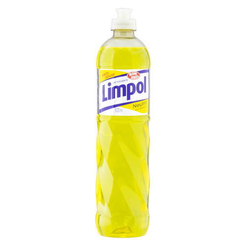 Detergente Limpol Neutro líquido em squeeze 500mL