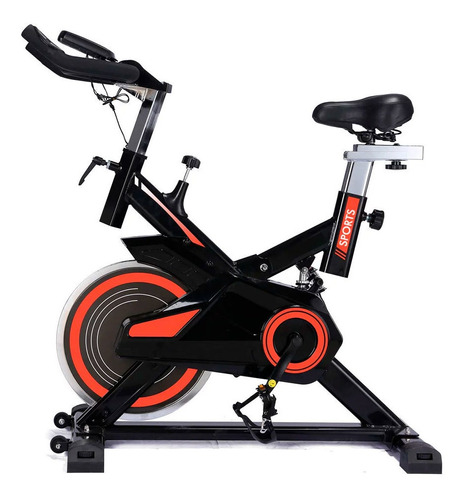 Imagem 1 de 4 de Bicicleta Spinning Freecycle 7800 - Preto E Laranja