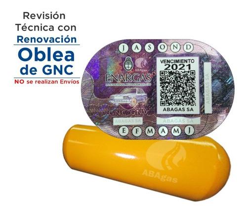 Imagen 1 de 4 de Renovacion Oblea Gnc Gas En El Acto Oferta Promocion Abagas