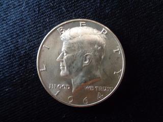 Moeda Medalha Prata De Lei Half Dollar Kennedy 1964