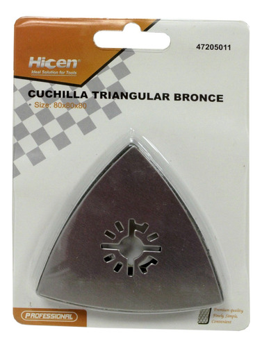 Imagen 1 de 4 de Cuchilla Triangular Para Amoladora Multifuncion Hicen G P