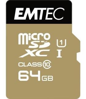 Emtec Microsdxc Clase 10 De 64gb + Oro