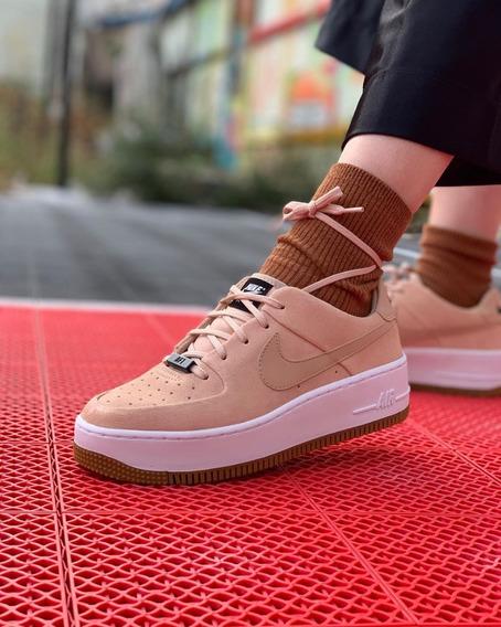 Zapatillas Nike Air Force 1 Sage Low Originales Para Mujer