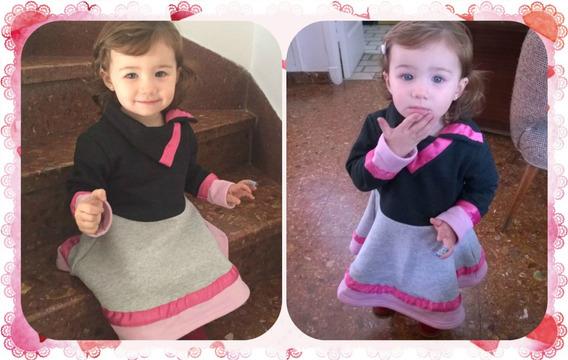 Vestido Nena Invierno Dafne Fiesta Bombona Chic Rosa Unico