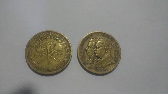 Moeda 500 Réis De 1922 Bronze - Alumínio - Comemorativa