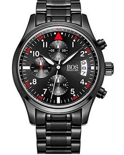 Bos Mens Chronograph Sport Reloj De Pulsera De Cuarzo Dial N