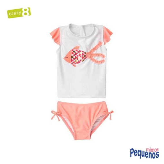 Conjunto Praia/piscina Uv50+ Menina Crazy8 Fish