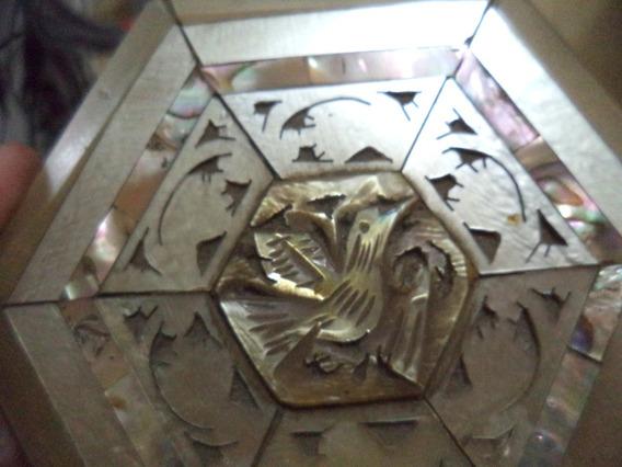 Antiga Caixinha Madreperolas/chifre/osso Antiga Palestina