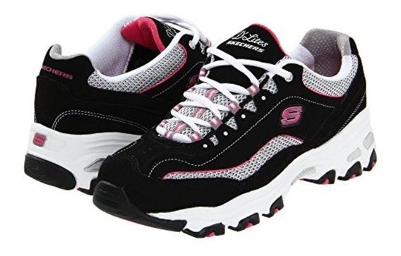 Tenis Skechers D Lite Centennial Glittery Pink 25 Originales
