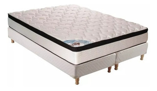 Colchon King True Pocket Resorte 180x200cm + Sommier Inducol