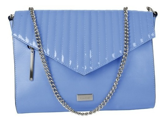 Bolsa Feminina Dumond Tiracolo Em Couro Verniz Azul Claro 483791