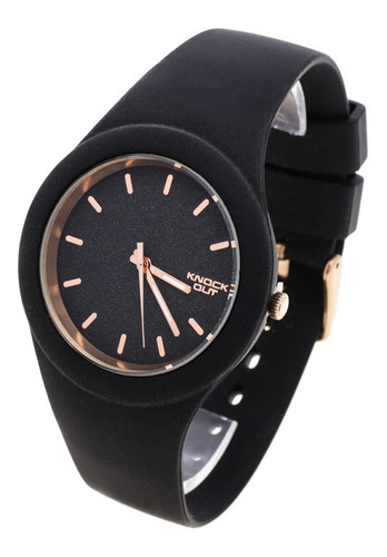 Reloj Knock Out Mujer 8942 Silicona Glitter Sumergible