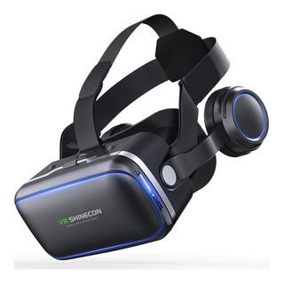 Óculos 3d Realidade Virtual Shinecon Vr 6.0 Fone E Controle