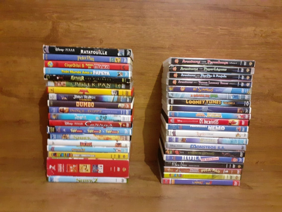 Vários Dvds De Desenhos - Disney, Mônica, Pernalonga E Mais!