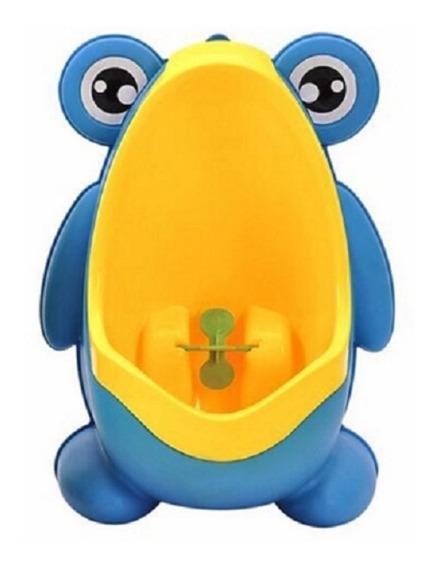 Pinico Mictorio Menino Sapo Sapinho Infantil Azul E Amarelo