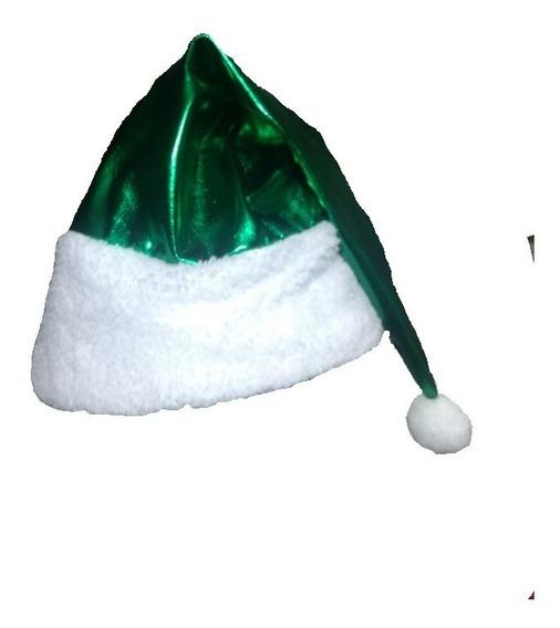 Gorro Navideño Verde Metálico
