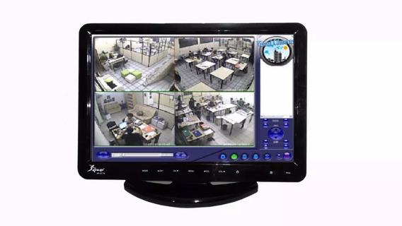 Tv Monitor Lcd Led Hd Com Conversor Digital Hdmi Usb Dvd