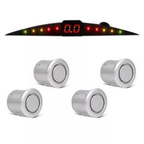 Kit Sensor Estacionamento 4 Pontos Prata Meia Lua