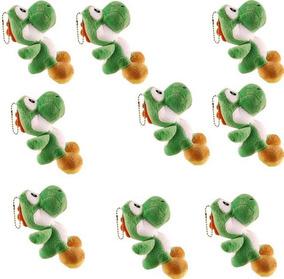 Kit 9 - Pelúcias Yoshi Mario Luigi Bros 12cm