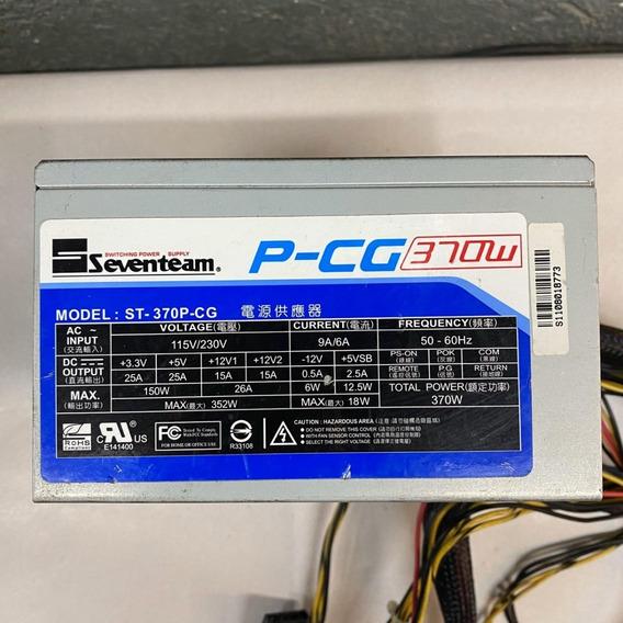 Fonte Real Seventeam Model: St-370p-cg 24p 370w C/ Pci-e