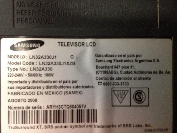 Placa De Fuente Samsung Ln32a330j1