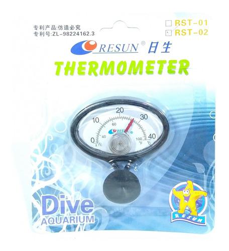 Termometro En Plastico Eliptico Para Acuarios